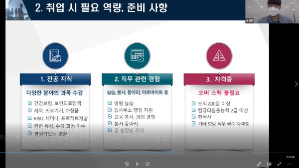 2021학년도 1학기 온라인 ZOOM 졸업생 초청 간담회